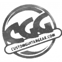 Custom Guitar Gear pre-worn t-shirt logo